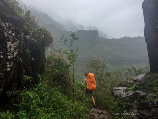 Are you packed well for torrential rain on this hike?