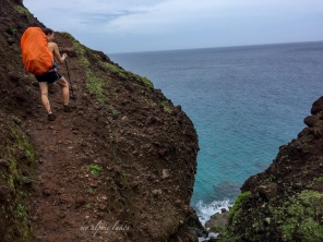 Ups and downs of Kalalau trail.