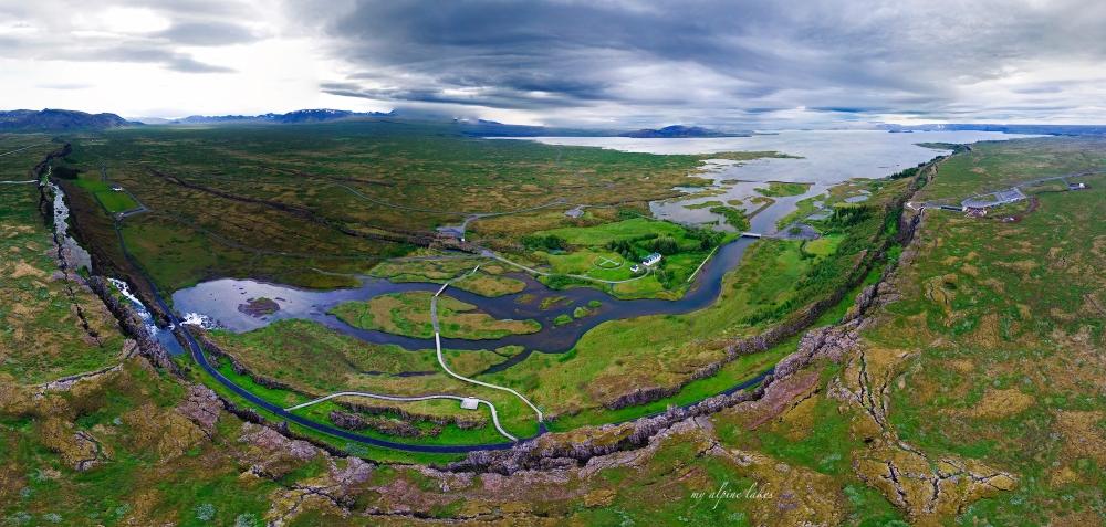 Alþingi_Lögberg_aerial_panorama